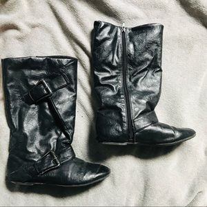 Black Riding Boots Size 5.5